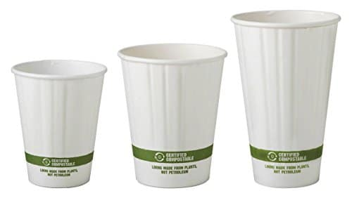 8 Oz Double Wall Compole Hot Paper Cups Insulated Coffee Biodegradable 1 000 Count