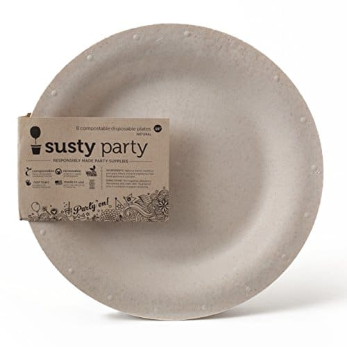 Susty Party Heavy Duty 100% Compostable Dinner Plate Paper and Plastic Alternative 10 inch Cream Round Bulk 96 pack  sc 1 st  Compostable Bags : are paper plates compostable - pezcame.com