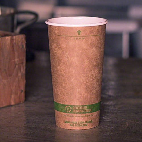 Buy 20 Oz Kraft Paper Cups Compostable Hot Coffee Cups