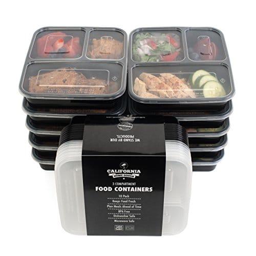 Buy California Home Goods 3 Compartment Bento Reusable Food Storage