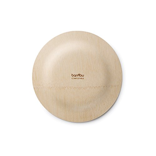 Buy BAMBU u2013 7u201d Bamboo Veneerware Disposable Plates Package of 8 u2013 Compostable u0026 Eco Friendly Great For Any Occasion u2013 100% Natural Now! Only $6.26  sc 1 st  Compostable Bags & Buy BAMBU u2013 7u201d Bamboo Veneerware Disposable Plates Package of 8 ...
