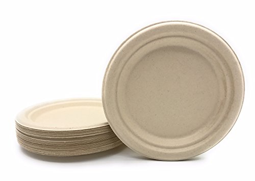 Bagasse - Natural Sugarcane Fibers (Bamboo) HARVEST PACK Seven (7\ ) inch (in) Round Disposable Plates Compostable Eco Friendly Environmental Paper Plates ...  sc 1 st  Discount Compostable Products - discount biodegradable products & Bagasse - Natural Sugarcane Fibers (Bamboo) HARVEST PACK Seven (7 ...