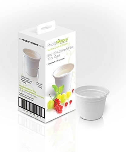 Precise Portions PP10CC-25 Portion Control Compostable Cups, Natural Bamboo  Fiber, Perfect for Weight Loss and Healthy Living (Pack of 25)