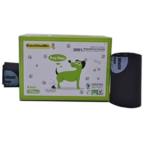 buy sunshinebio 100 compostable biodegradable dog waste poop bags size 9 x 13 meet astm d6400 specification us bpi european vincette certificated - Dog Waste Bags