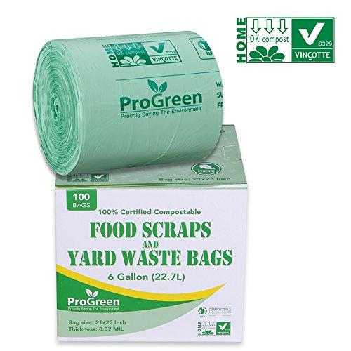 Progreen 100 Compole Bags 13 Gallon Extra Thick