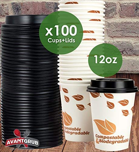 Buy Biodegradable and Compostable 12 Oz Paper Coffee Cups ...