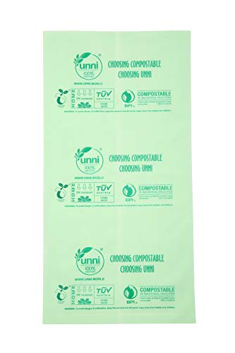 100 PACK Compostable Trash Bags Garbage Can Tall 3 Gallon ASTMD6400 Certified